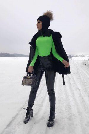 Neon rebrast puli – zelena
