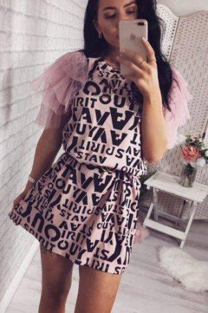 Obleka Letter – roza