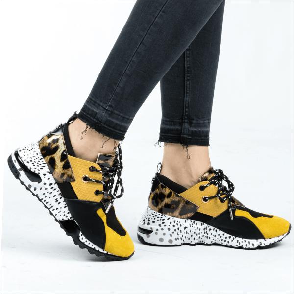Madison superge – rumena leopard