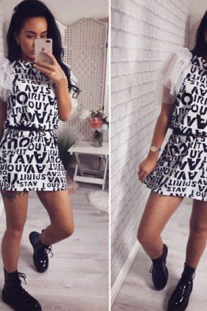 Obleka Letter – bela