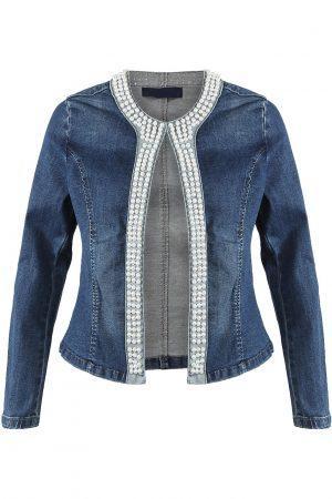 Jeans jakna z biseri