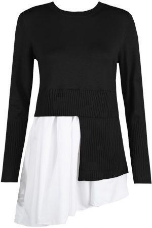 Asimetrična tunika – črna