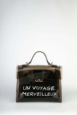 Pvc torbica Voyage – črna
