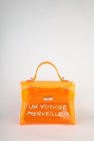 Pvc torbica Voyage – neon oranžna