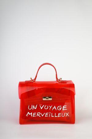 Pvc torbica Voyage – rdeča