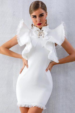 ADELE obleka – bela