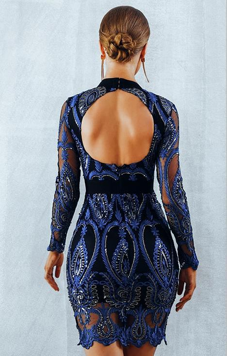 CHANTAL obleka  – pariško modra