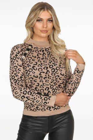 Majica leopard – bež