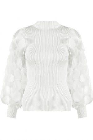 Majica s krogi – bela
